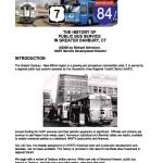 HISTORY OF PUBLIC BUS SERVICE IN DANBURY