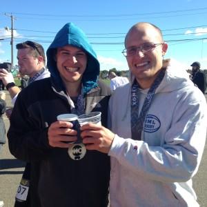 Rob and Mike at the SONO Half Marathon
