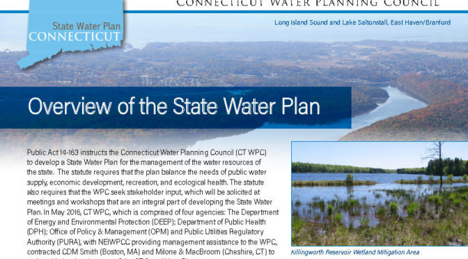 State Water Plan to be Presented at COG Meeting