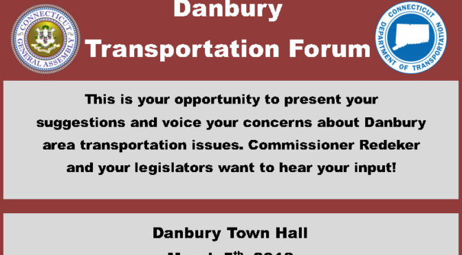 Legislators Hosting Greater Danbury Transportation Forum